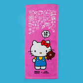 童巾 / 生活雜貨【KittyxLINE-童巾28X54公分-三款可選】熊大兔兔KITTY夢幻毛巾,戀家小舖