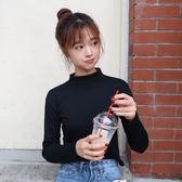 秋裝女裝新款韓版基礎款百搭短款打底衫上衣顯瘦修身長袖T恤學生 米蘭街頭
