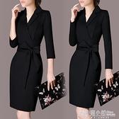 夏季新款短袖連身裙女裝修身顯瘦OL氣質職業裝正裝女士包臀裙子女 秋冬新品