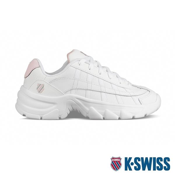 【超取】K-SWISS ST229 CMF老爹鞋-女-白/粉紅