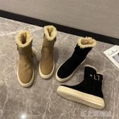 雪地靴女短筒冬季時尚一腳蹬時尚可愛日系百搭加絨保暖靴 新北購物城