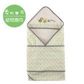 【愛的世界】小熊葉子三角帽抱巾+肚圍/綠葉-台灣製- ★用品推薦