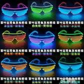 穿搭眼鏡 抖音蹦迪酒吧發光眼鏡 LED熒光閃光眼鏡百葉窗雙色 熒光舞表演 3C優購
