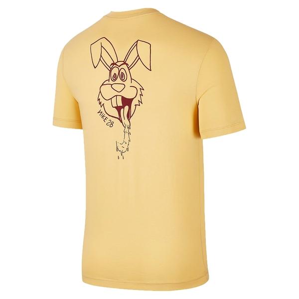 Nike SB 男裝 短袖 短T 休閒 純棉 兔子 手繪 鵝黃【運動世界】BV7050-251