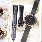 Max Max 義大利時尚 臻愛羅馬 簡約腕錶 贈真皮錶帶 藍寶石水晶 女錶 IP黑電鍍 MAS7028-1