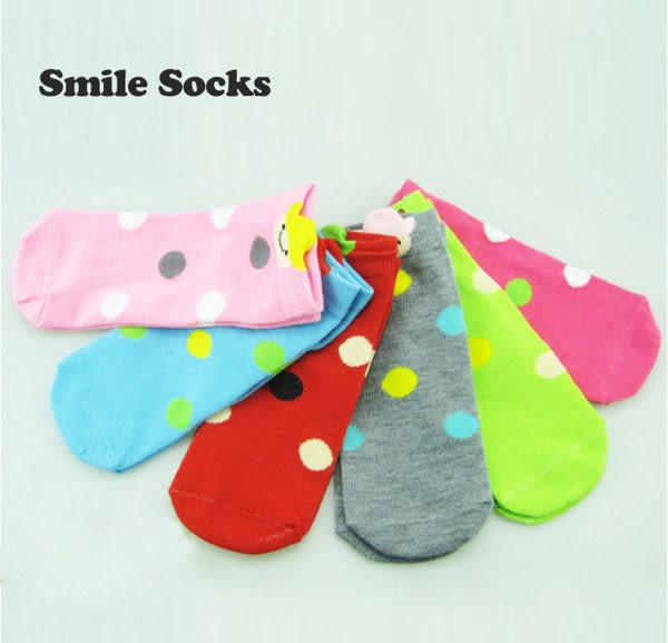 襪子   牛仔笑臉圓點童襪  【FSC006】-收納女王