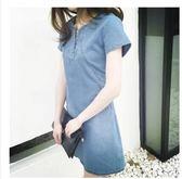 售完即止-新款洋裝牛仔洋裝女中長款寬鬆大尺碼顯瘦包臀a字裙12-12(庫存清出T)