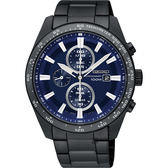 SEIKO精工 Criteria極速計時男錶-藍x鍍黑/42mm V176-0AV0SD(SSC655P1)