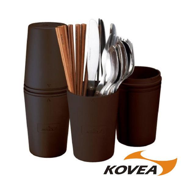 KOVEA PC野餐餐具組4人份-附盒 登山 露營 野餐 KN8CK0112