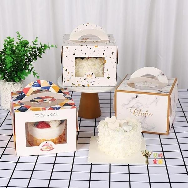 蛋糕包裝盒 小5寸加高款手提4寸蛋糕盒迷你4寸芝士蛋糕烘焙包裝盒