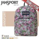 JANSPORT後背包包大容量JS-43501-0KL花漾灰