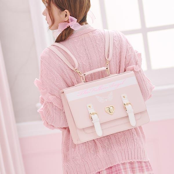 包包 學院風天使翅膀手提肩背包-Ruby s 露比午茶