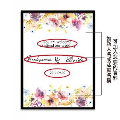 幸福婚禮小物❤幸福洋溢迎賓板❤迎賓牌/禮桌桌卡/婚宴用品/客製化/會場佈置