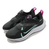 Nike 慢跑鞋 Wmns Air ZM Pegasus 37 Shield 黑 綠 女鞋 跑步 慢跑 運動鞋 【ACS】 CQ8639-003