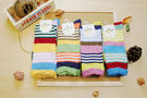 襪子 古著復古 日本氣質個性 SEIO 經典個性獨特圖型 俏皮撞色 可愛亮色系粗橫條 襪子 (隨機出貨)
