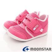 【MOONSTAR 】 Carrot 機能童鞋雙絆帶透氣速乾鞋寶寶段902 櫻桃粉12 5