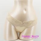 Chasney Beauty-蠶絲緞面S-L蕾絲三角褲、丁褲(牙白)