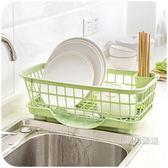 瀝水架 廚房放碗架瀝水架置物架塑料收納架餐具架子碗筷收納盒碗柜 兩色可選 xw