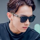 韓國款方框男士太陽鏡圓臉復古墨鏡女個性太陽眼鏡潮Mandyc