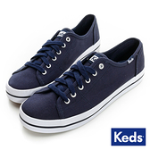 KEDS KICKSTART 帆布休閒鞋 海軍藍 W130036 女鞋 綁帶│平底