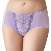 思薇爾-撩波系列M-XL蕾絲中低腰平口內褲(透氧紫)