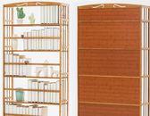 書架書櫃收納櫃木馬人簡易書架收納置物架簡約 實木落地兒童學生用桌上小書櫃 免運