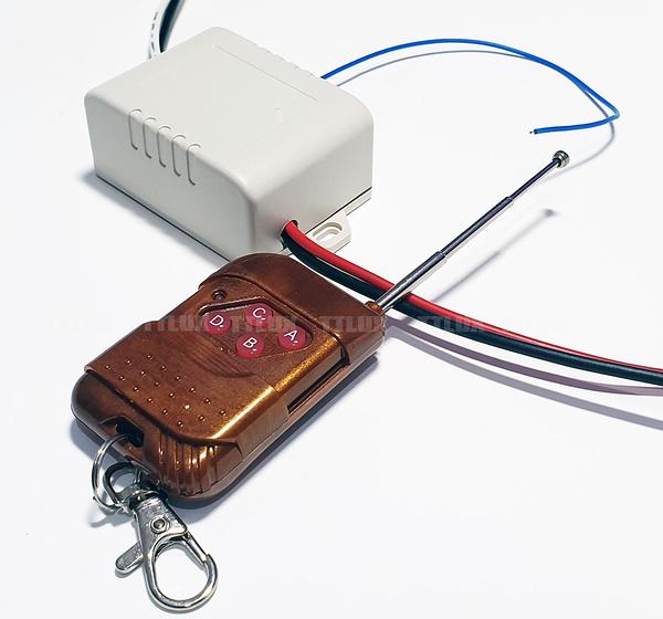 110V電源遙控開關 【通電後是關】(RF遙控 距離300公尺 1000W 可定時12小時)
