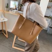 秋冬單肩大包女網紅包包女大容量簡約百搭時尚購物托特包 - 風尚3C