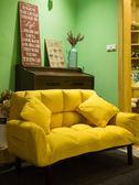 懶人沙發北歐雙人小戶型沙發簡易折疊臥室陽臺小沙發榻榻米沙發床wy【萬聖節88折
