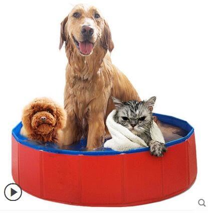 狗狗洗澡盆可折疊浴盆金毛寵物遊泳池spa浴缸大型犬泡澡貓咪用品   現貨