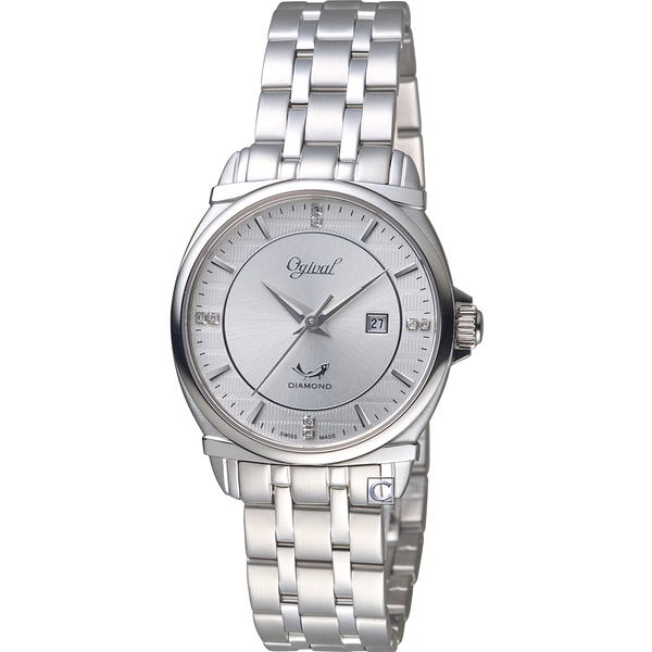 Ogival愛其華典藏真鑽時尚腕錶    350-04LS