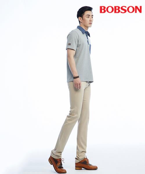 BOBSON  男款領配布polo上衣(26010-83)