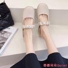 穆勒鞋 包頭半拖鞋女低跟時尚正韓穆勒拖春季新款百搭外穿懶人鞋-Ballet朵朵
