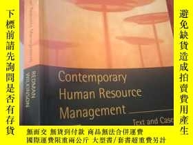 二手書博民逛書店Contemporary罕見Human Resource Man