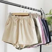 漂亮小媽咪 棉麻短褲【P1005】 寬鬆短褲 鬆緊褲頭 (非孕婦褲頭)