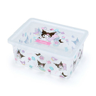 【震撼精品百貨】酷洛米_Kuromi~三麗鷗 酷洛米透明置物盒/收納盒#26155