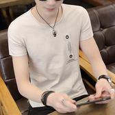 新款男士短袖t恤純棉丅半袖個性韓版潮流夏季男裝修身上衣服   檸檬衣舍