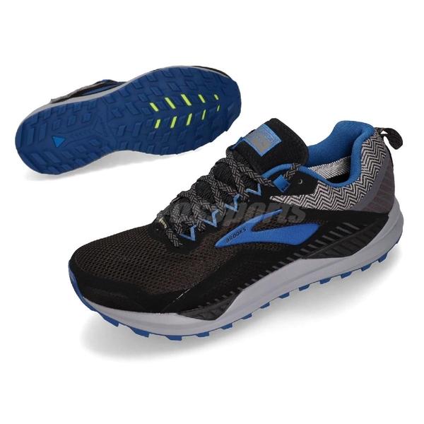 Brooks 越野慢跑鞋 Cascadia 14 GTX 黑 灰 藍 防水 男鞋 【PUMP306】 1103091D053