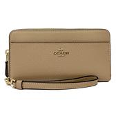 【COACH】前口袋手掛式拉鍊零錢袋長夾(膚色)