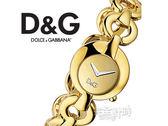 【完全計時】手錶館│D&G 普普藝術 優雅永恆腕錶 經典流線 DW0455 金