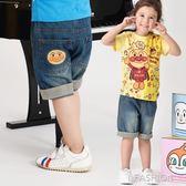2019夏季新款面包超人童裝兒童牛仔褲短褲純棉洋氣男童女童-ifashion