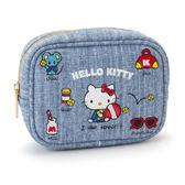 Sanrio HELLO KITTY刺繡鑲飾化妝包(元氣小物)★funbox★_449814