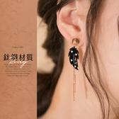 限量現貨◆PUFII-耳環 羽毛造型垂掛式鈦鋼耳環- 0429 現+預 春【CP18481】