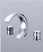 【 麗室衛浴】造型優雅 銅鍍鉻 浴缸龍頭 大C三件組 F-33301