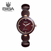 法國 BIBA 碧寶錶 純粹晶瓷系列 藍寶石玻璃 石英錶 B31TC049T 咖啡色 - 28mm
