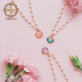 項鍊 韓國直送珍珠亮片貝殼項鍊-粉紅色-Ruby s露比午茶