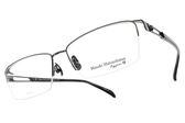 Masaki Matsushima光學眼鏡 MFT5023 C03 (槍-深藍) β 鈦金屬鏡框 人氣質感簡約半框款 #金橘眼鏡