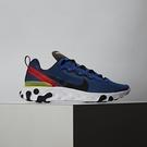 Nike React Element 55 男鞋 藍橘黃 透氣 輕量化 休閒鞋 慢跑鞋 BQ6166-403