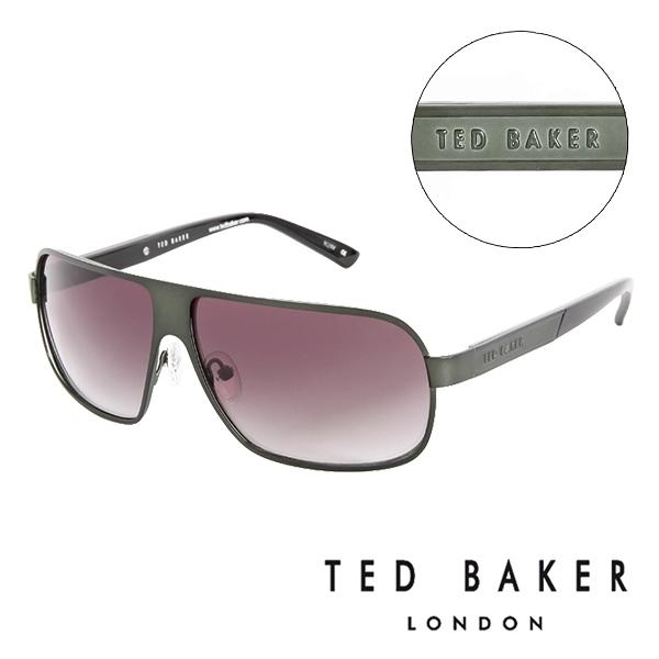 【南紡購物中心】TED BAKER 倫敦個性男士質感造型太陽眼鏡(墨綠) TB1241522