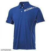 MIZUNO 男裝 短袖 POLO衫 休閒 吸汗快乾 合身版型 深藍【運動世界】32TA102016
